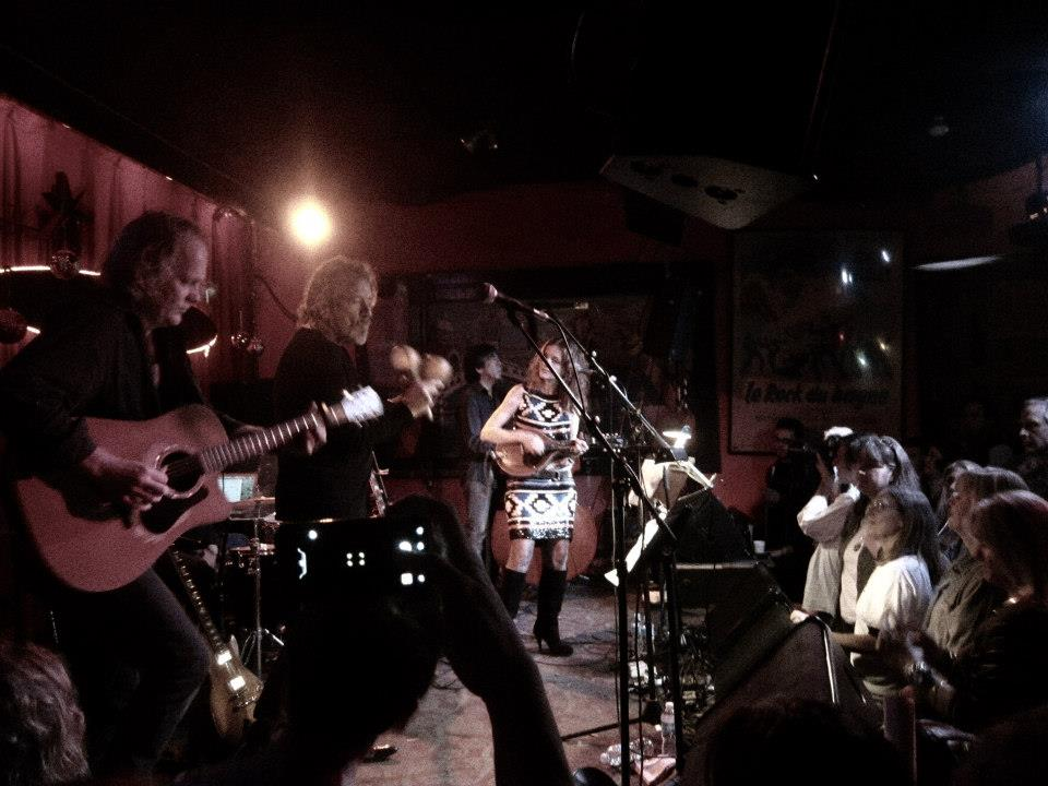 Robert Plant Patty Griffin and me at the Continental Club in Austin Tx